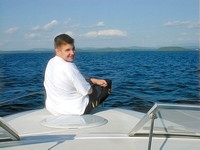 Scott cruising on Lake Champlain